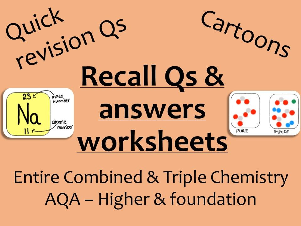AQA Chemistry GCSE recall Qs - ALL combined and Triple
