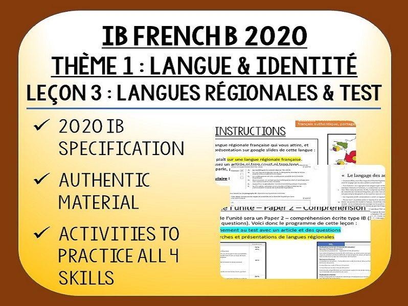 IB FRENCH B 2020 - Langue & Identité - L3
