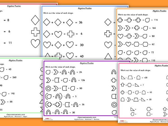 Algebra Shape Puzzles