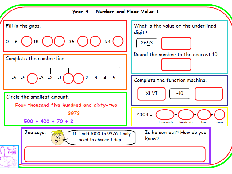 LKS2 number and place value morning mats