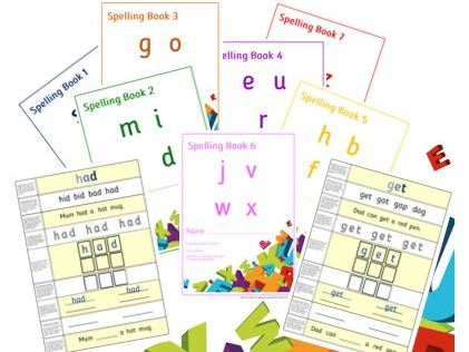 'A Spelling Book' Series - Intensive One Word per Page Spelling Practice Sets 1-7 - PhonicsforSEN