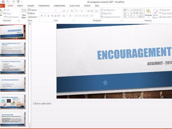 Encouragement / Motivational Assembly 2017