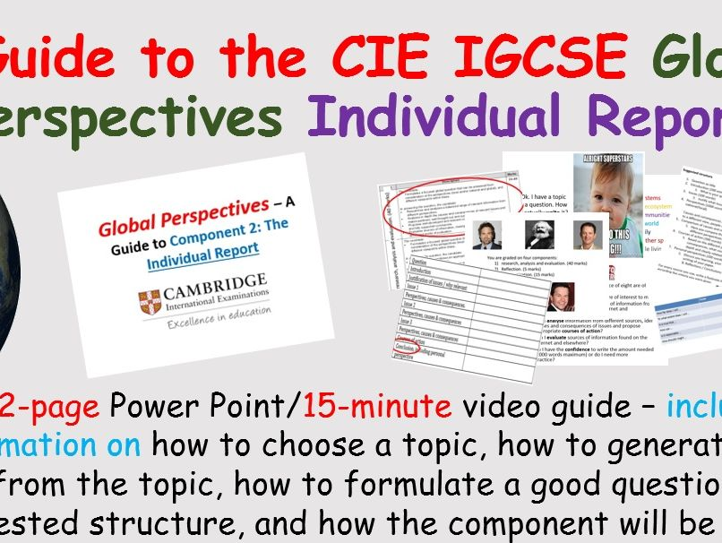 Global Perspectives Individual Report - IGCSE CIE Guide