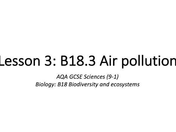 B18.3 Air pollution