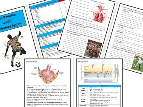 Btec Level 3 - Sport - Unit 1 - Respiratory System Revision Notes/Guide - Includes Tick List & Test