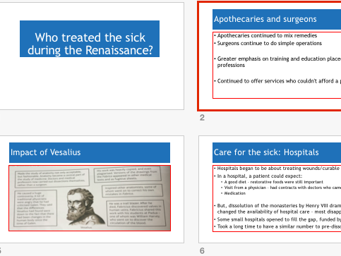 EdExcel GCSE History - Medicine - Renaissance Completed Resource Pack