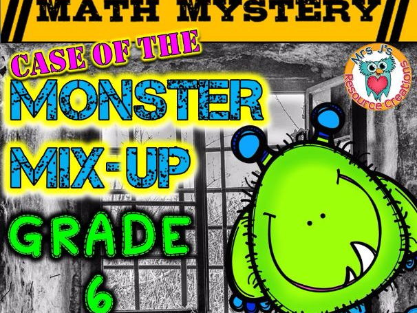 Multiplication Math Mystery (GRADE 6)