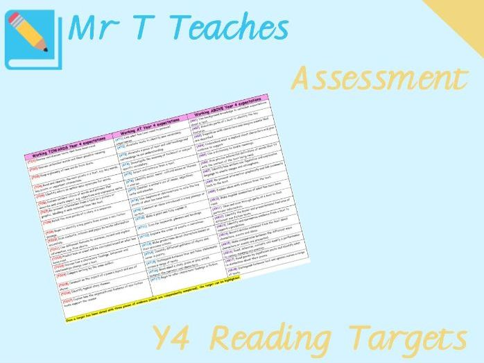 Year 4 ReadingTargets Assessment