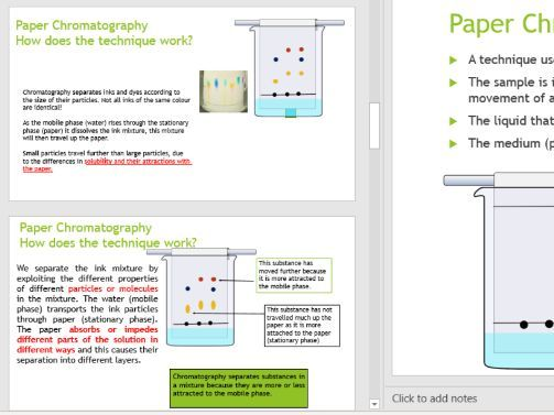 IGCSE Combined Science Experimental Techniques Paper Chromatography