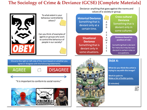 GCSE Sociology Bundle: Work / Crime & Deviance