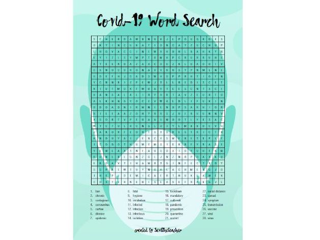 Covid-19 Word Search Puzzle