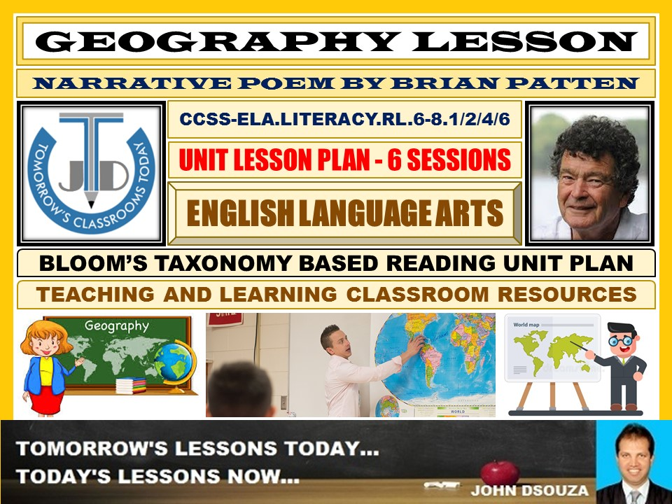 POETRY READING: UNIT LESSON PLANS AND RESOURCES - 6 SESSIONS