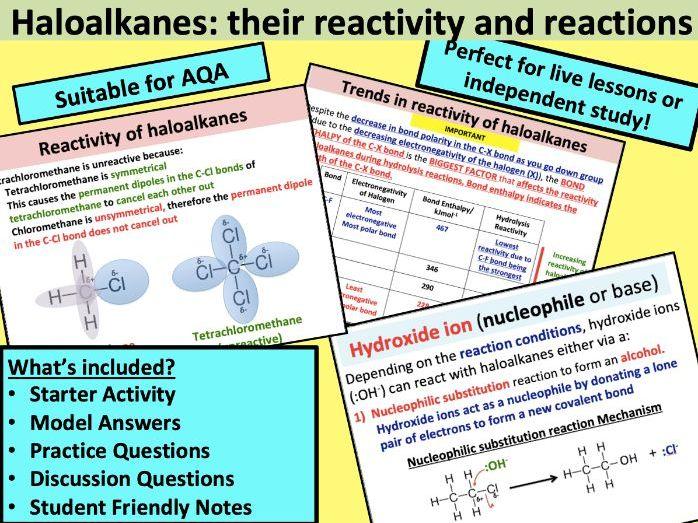 AS Chemistry: Haloalkanes (AQA)