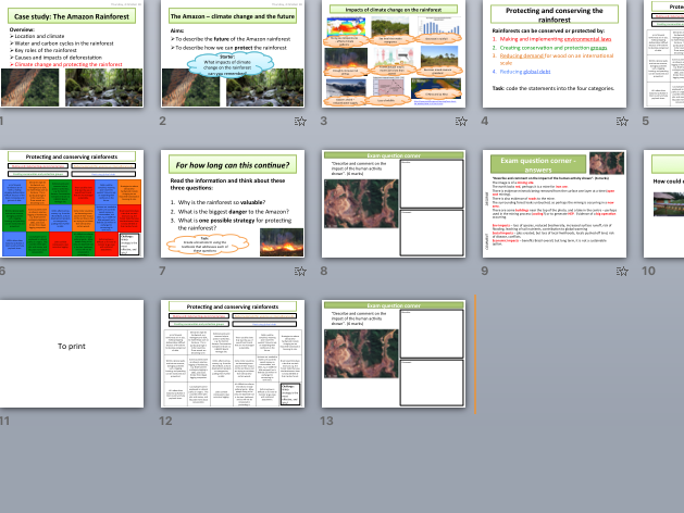 AQA A Level Climate Change Case Study - The Amazon (protecting the rainforest)