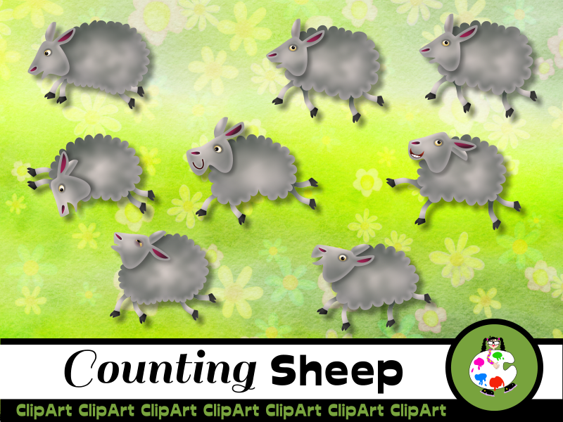 Cartoon Farm Sheep Clip Art