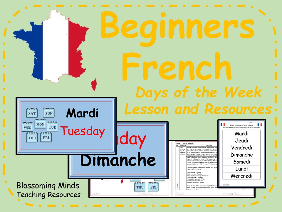French Lesson and Resources - KS2 - Days of the week
