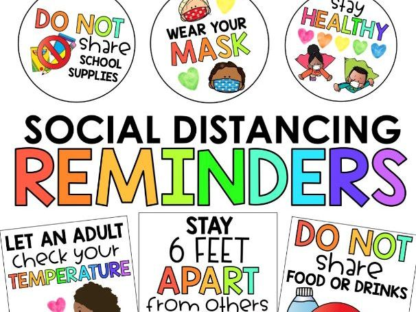 Social Distancing Posters for Classroom