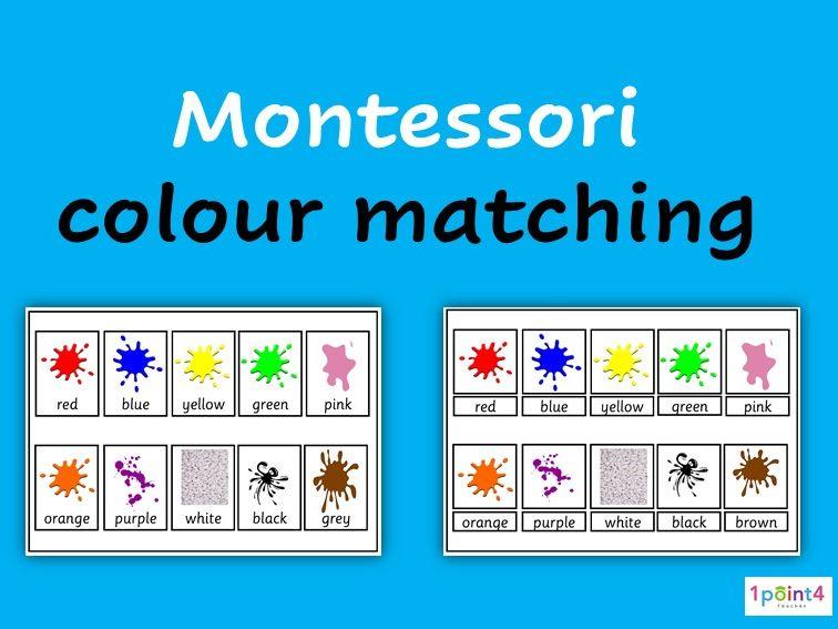 Montessori Colour Matching Activity