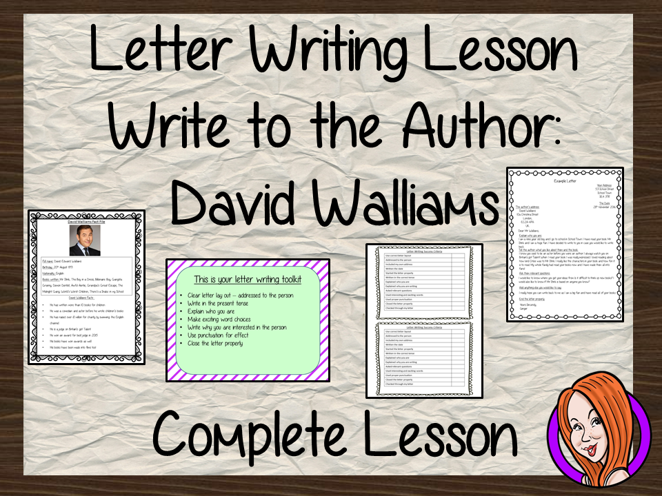 Letter Writing Complete Lesson David Walliams By