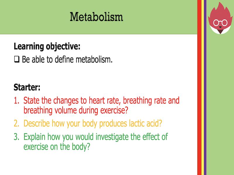 AQA GCSE Biology-Metabolism