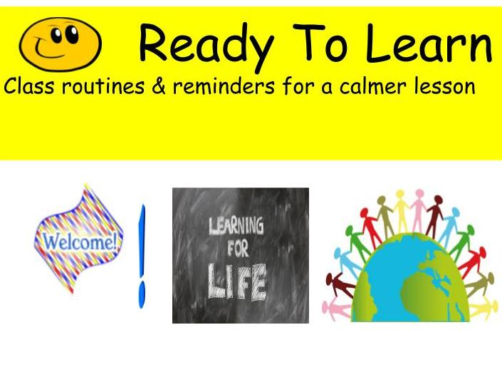 Class Routines_setting the learning tone.