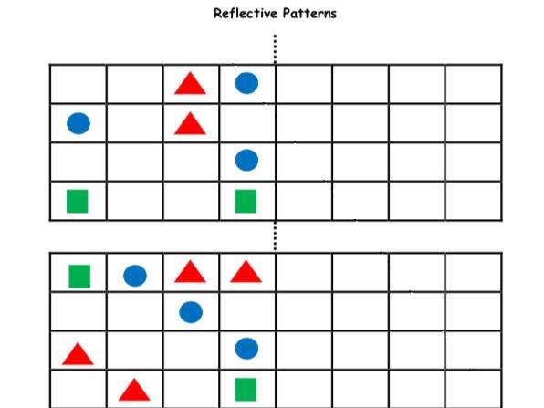 Reflective Patterns Mirror image Reflection