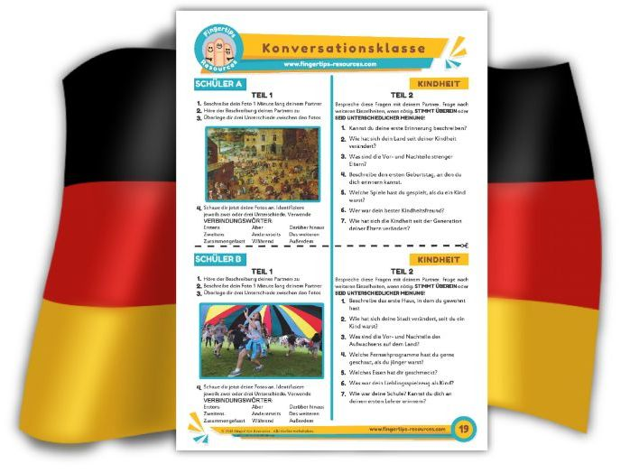 Kindheit - German Speaking Activity