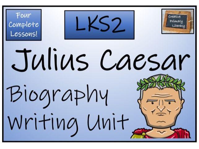 LKS2 History - Julius Caesar Biography Writing Activity