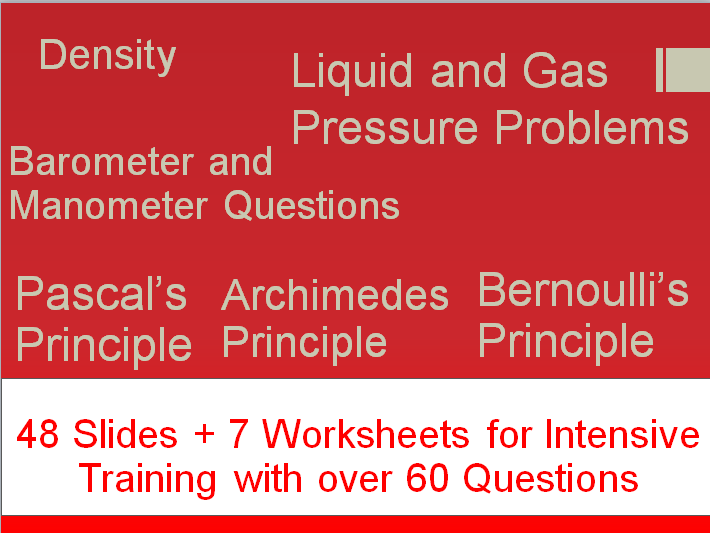 Complete Pressure and Forces Bundle (Slides + 7 Worksheets)