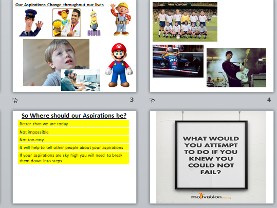 Aspirations Assemblies bundle