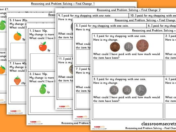 Year 2 Find Change WRM Measurement Money Reasoning and Problem Solving