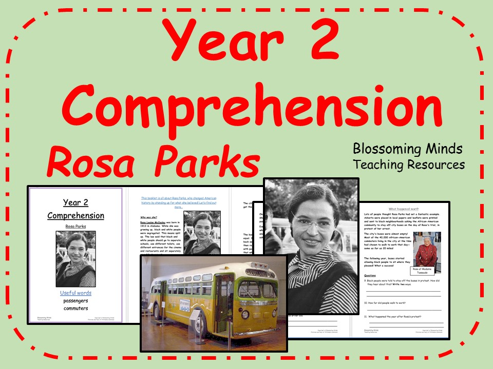 Women's History Month - Year 2 SATs Reading Comprehension - Rosa Parks - March