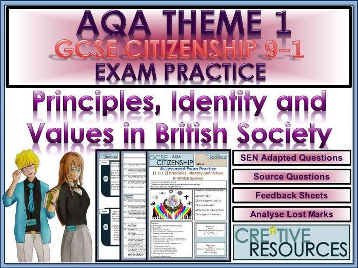 9-1 Citizenship AQA GCSE Exam Assessment: Principles, Identity and Values in British Society.PDF