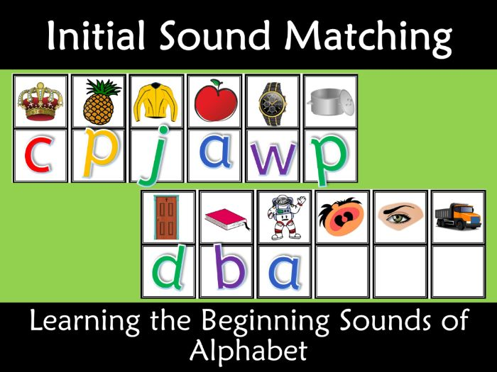Initial Sounds Matching Letter Alphabet