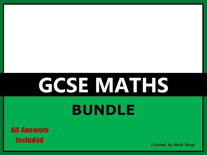 GCSE Maths Bundle