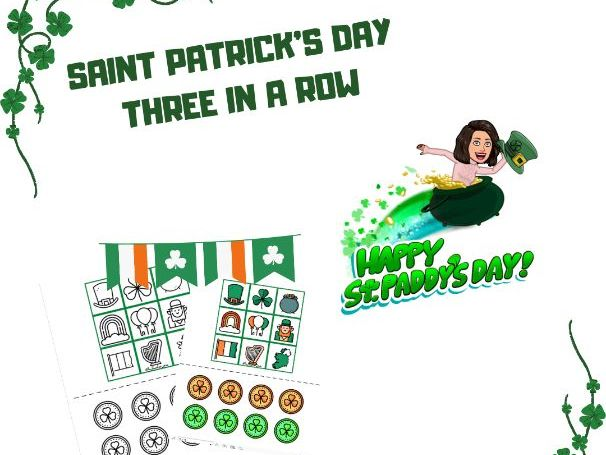 Saint Patrick's Day Three in a Row Game