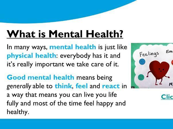 KS3 Mental Health Lesson