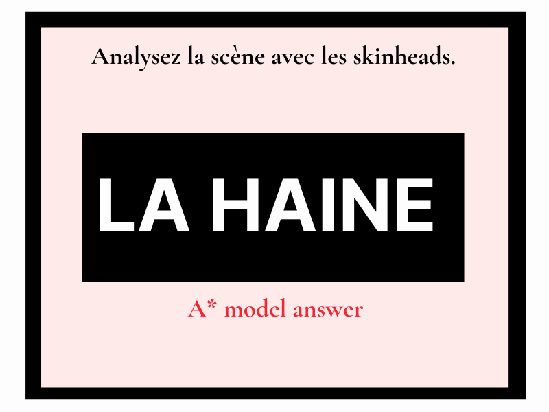 La Haine les skinheads (essay question) French A level