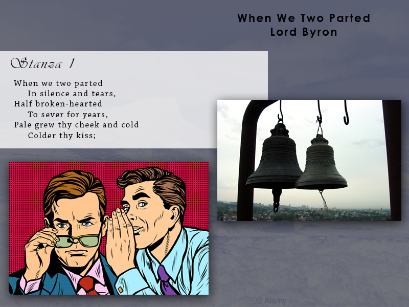 AQA Poetry Differentiated - When We Two Parted - Lord Byron (Love and Relationships Unit)(KS4)