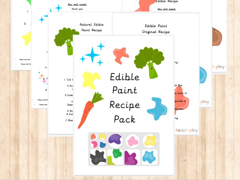Edible Paint Recipe Pack