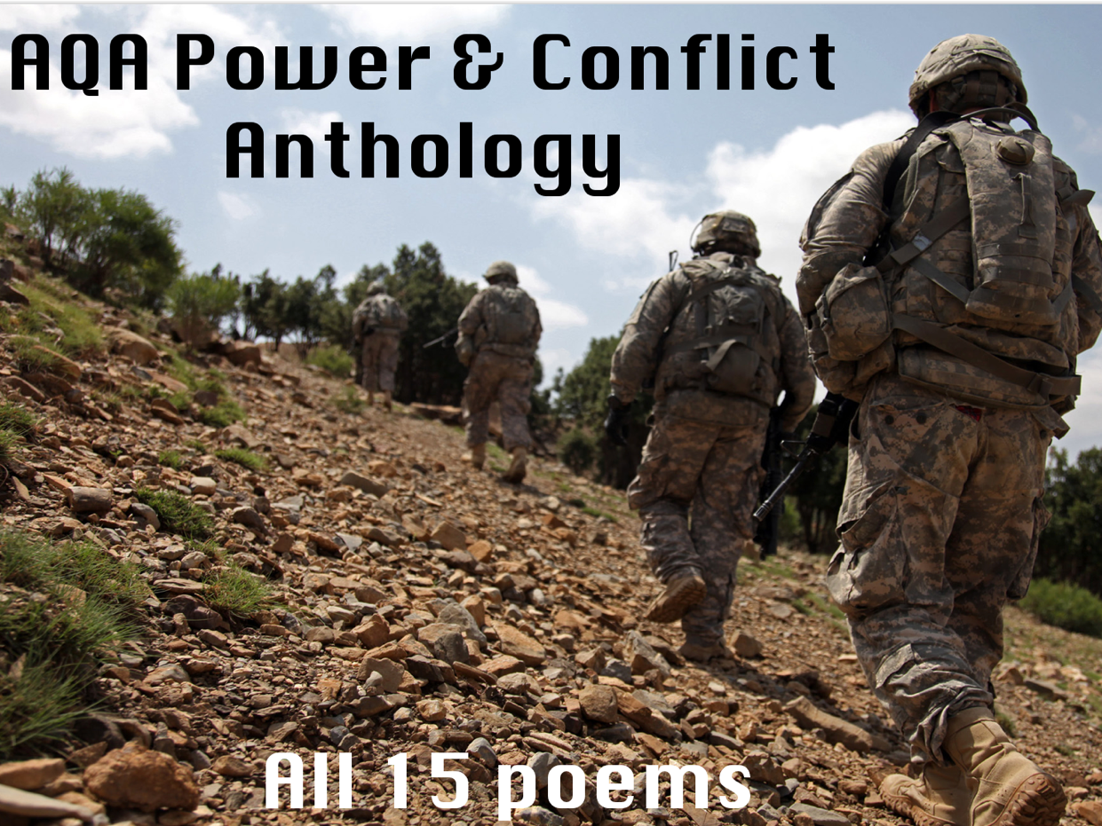 AQA Power & Conflict Poetry- AQA New Spec- All 15 Poems