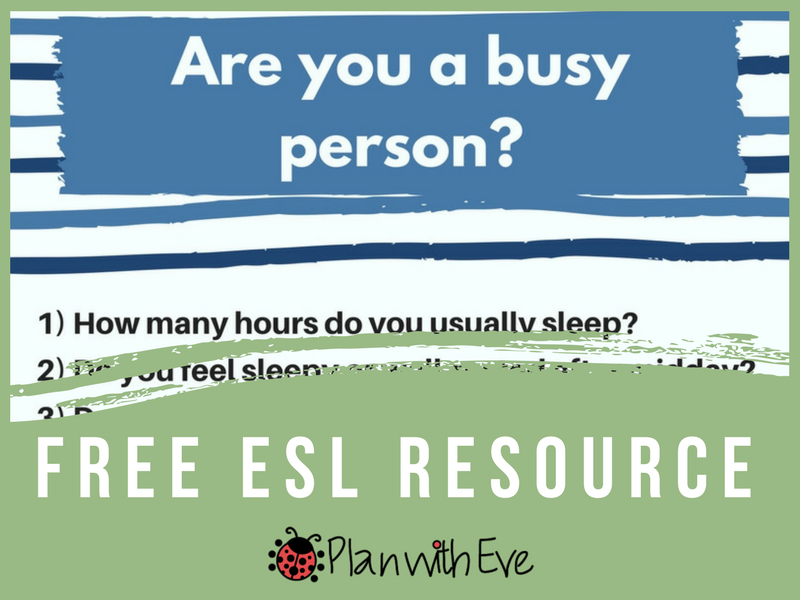 "ESL Conversation: ""Are you busy?"" - Free ESL Resource!"