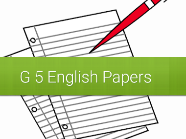English Exam papers for grade 5 level-- Assessment 3  sections[comprehensions, creative writing & grammar]