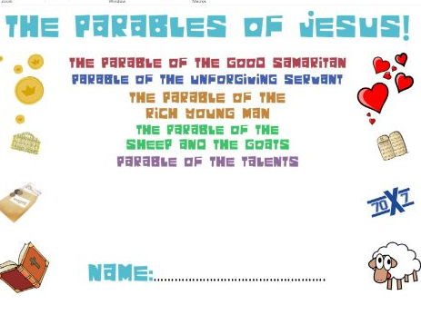 Parables of Jesus Workbook: Story, Themes, Context and Importance