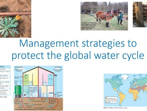 A Level; Management strategies to protect the global water cycle