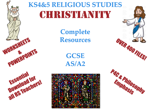 KS4 & KS5 Christianity Bundle [GCSE, AS, A2] (Career Collection of over 400 files)