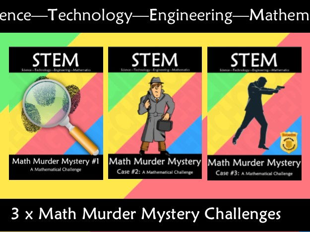 STEM Math Murder Mystery: A Math Challenge Bundle