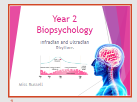 AQA Psychology A Level - Bio Psychology Complete Unit of Lesson PPTs