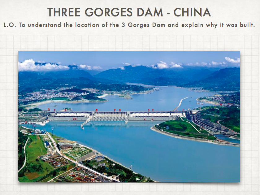 Geography: The Three Gorges Dam Pie Chart Activity