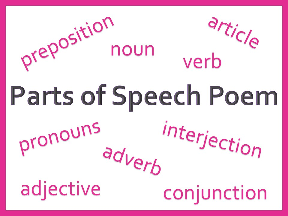 Nine Parts of Speech Poem, PPT and Activities